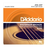 10-47 Extra Light  Phosphor Bronze Acoustic Guitar Strings Set