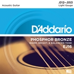 12-53 Light Phosphor Bronze Acoustic Guitar Strings Set