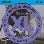 11-49 Medium Blues, Jazz Rock Nickel Wound Electric Guitar Strings Set