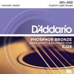 11-25 Custom Light  Phosphor Bronze Acoustic Guitar Strings Set